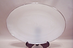 Anchor Hocking/fire King Vienna Lace Pattern Platter