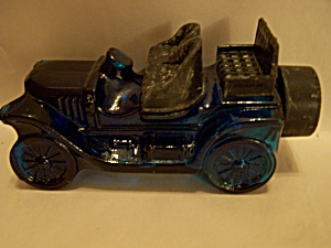 Avon Cobalt Blue Vintage Automobile Glass Bottle (Image1)