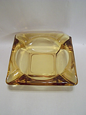 Anchor Hocking/fire King Honey Amber Glass Ash Tray