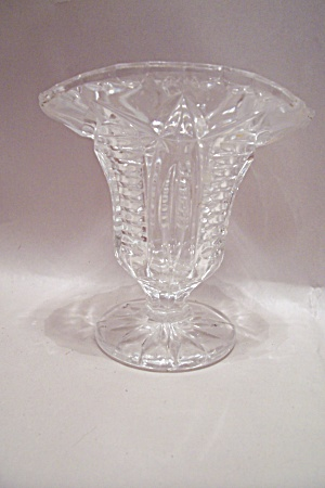 Crystal Pattern Glass Toothpick Holder