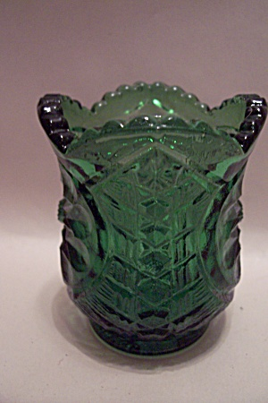 Green Pattern Glass Toothpick Holder (Image1)