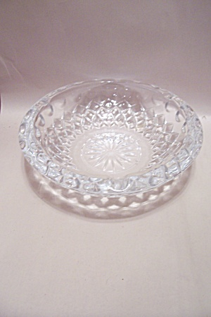 Crystal Pattern Glass Ash Tray