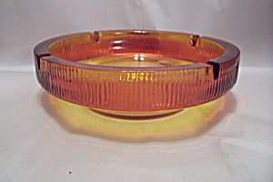 Amberina Glass Ash Tray