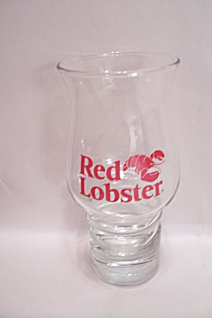 Red Lobster Crystal Drink Glass