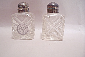 Crystal Glass & Silver Plated Salt & Pepper Shaker Set (Image1)