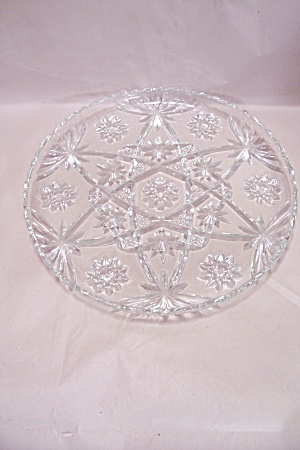 Fire King/anchor Hocking Eapc Crystal Glass Servingtray