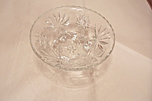 Fire King/anchor Hocking Eapc 3-toed Crystal Bowl