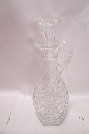 Fire King/anchor Hocking Eapc Crystal Glass Cruet
