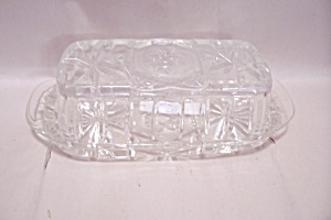 Fire King/Anchor Hocking EAPC Crystal Glass Butter Dish (Image1)