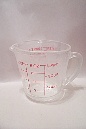 Fire King Crystal Glass Measuring Cup