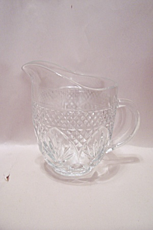 Fire King/anchor Hocking Oatmeal Pattern Glass Creamer