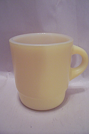 Fire King/anchor Hocking Stackable Yellow Glass Mug
