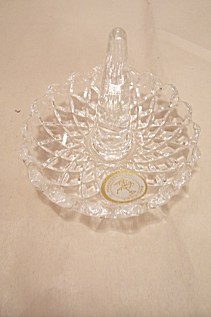 Lead Crystal Glass Ring Holder