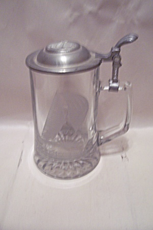 12 Meter Racing Sloop Glass Beer Stein With Pewter Lid (Image1)