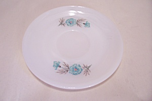 Fire King/anchor Hocking Blue Flower Pattern Saucer