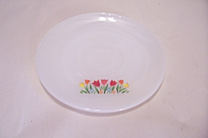 Fire King/anchor Hocking Tulip Flower Pattern Saucer