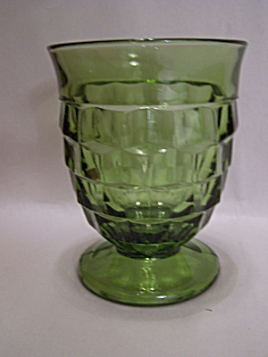 Indiana Glass Southhall Pattern Green Footed Tumbler (Image1)