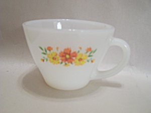 Fire King/anchor Hocking Flower Pattern Cup