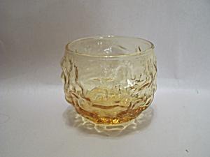Amber Pattern Glass Bowl (Image1)