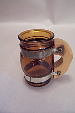 Dallas Zoo Amber Glass Mug-shaped Toothpick Holder