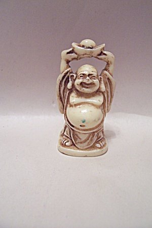 Hand Carved Oriental Ivory Standing Buddha (Image1)