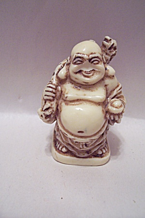 Hand Carved Ivory Standing Buddha
