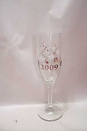 2009 New Year's Crystal Champagne Glass