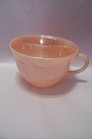 Fire King/anchor Hocking Laurel Peach Lustre Cup