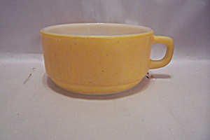 Fire King/anchor Hocking Yellow Handled Soup Cup