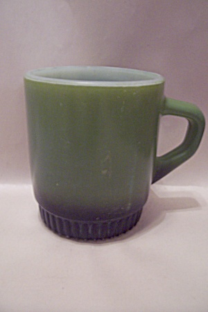 Fire King/anchor Hocking Green & Black Stackable Mug