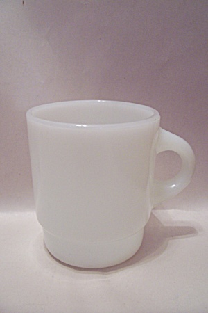 Fire King/anchor Hocking White/milk Glass Stackable Mug