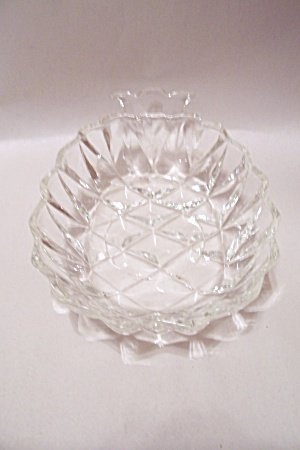 Pineapple Shaped Pattern Glass Candy Dish
