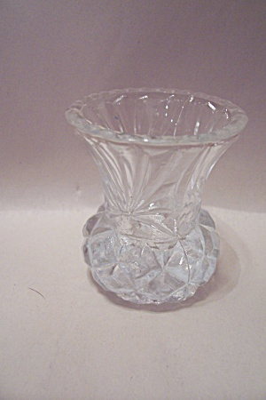Crystal Glass Pineapple Design Toothpick Holder