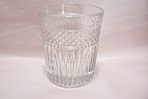 Crystal Pattern Glass Large High Ball Tumbler