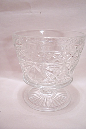 Crystal Pattern Glass Footed Sherbet
