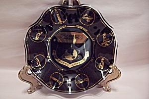 Air Force Museum Souvenir Art Glass Folded Bowl (Image1)