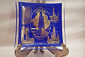Chicago Souvenir Glass Shallow Dish
