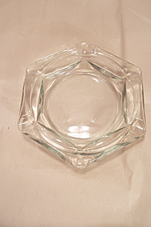 Crystal Glass 6-sided Ash Tray