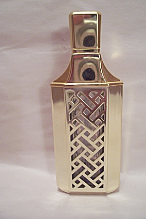 Guerlaine Gold Glass Perfume Bottle