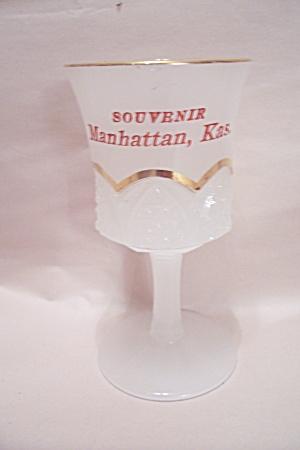 Manhattan, Kansas Souvenir Milk Glass Sherry Glass (Image1)