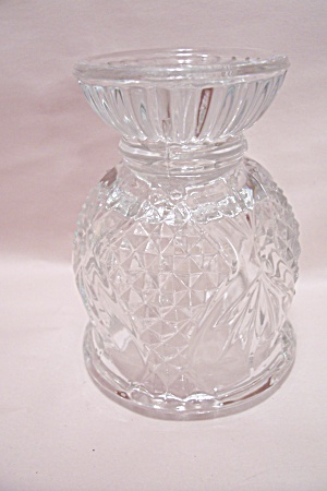 Reversible Crystal Glass Candle Holder