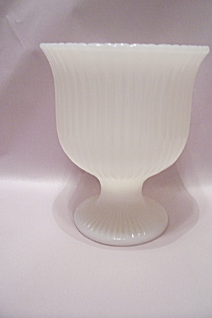 E. O. Brody Milk Glass Pedestal Bowl (Image1)