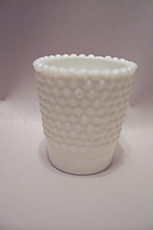 Hobnail Milk Glass Toothpick Holder (Image1)