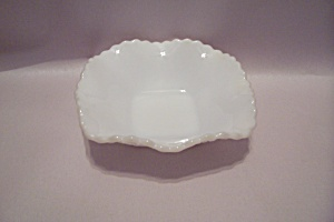 Milk Glass Square Folded Bowl (Image1)