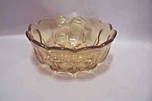 Vaseline Pattern Glass Bowl (Image1)