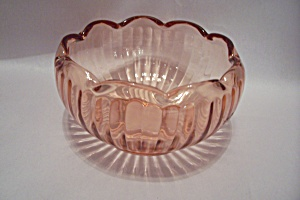 Pink Depression Glass Rose Bowl
