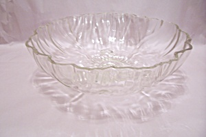 Crystal Pattern Glass 3-toed Salad Bowl