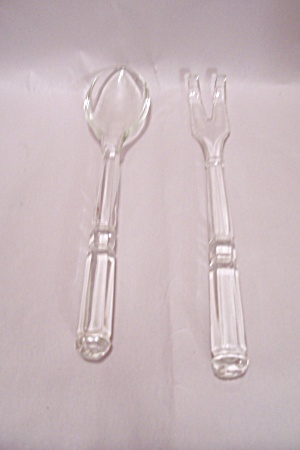Crystal Glass 2-piece Salad Serving Set