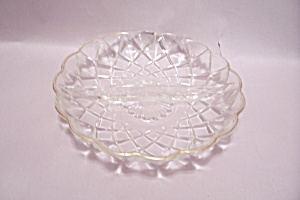 Pattern Crystal Glass Divided Dish