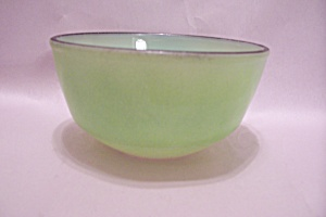 Fire King/anchor Hocking Light Green Glass Bowl